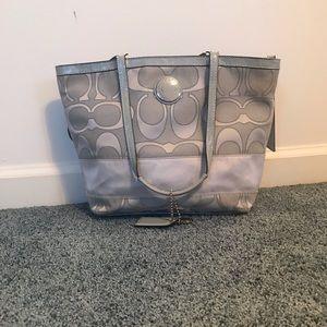Coach grey purse